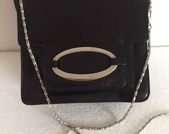 a3b90d56c90 Vintage Italiaanse zwarte tas / ontwerpers dame avond tas