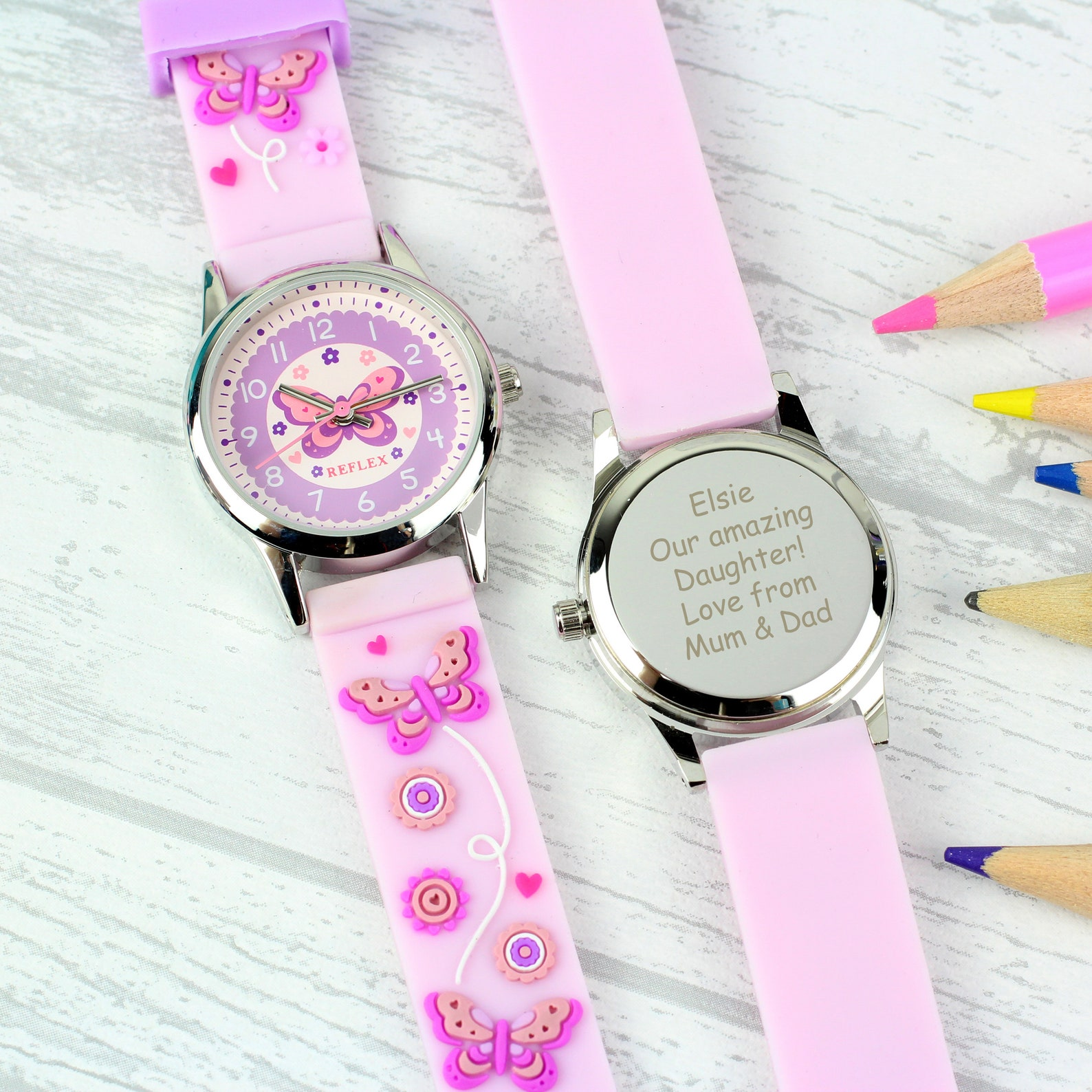 Personalised Butterfly Watch