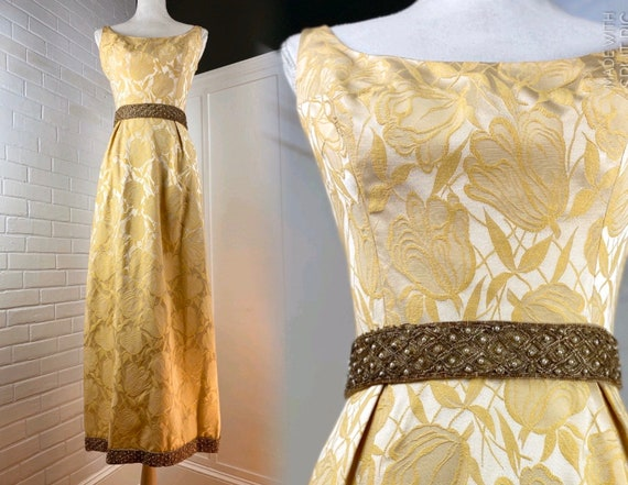 1950s Evening dress, Ball gown, Cocktail dress. Si