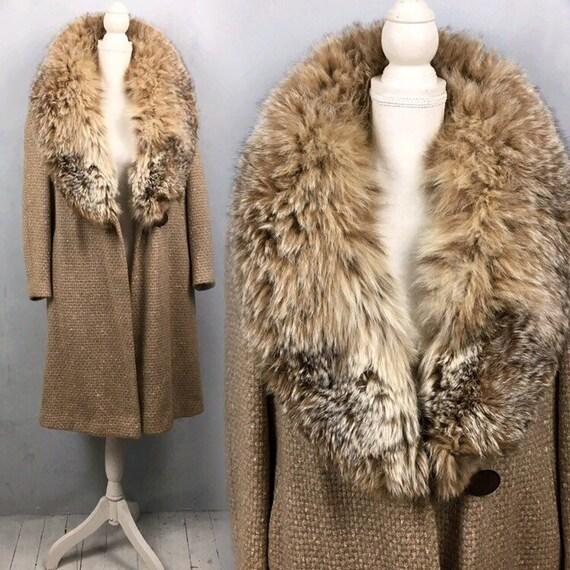 Warm winter coat, Princess coat, Wool coat. Vintag
