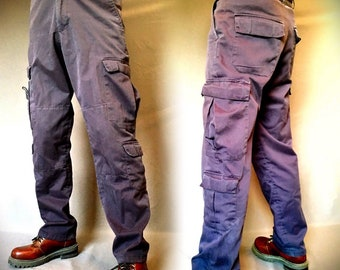 Blue cargo pants, camping pants, military pants, pocket pants, Utility pants