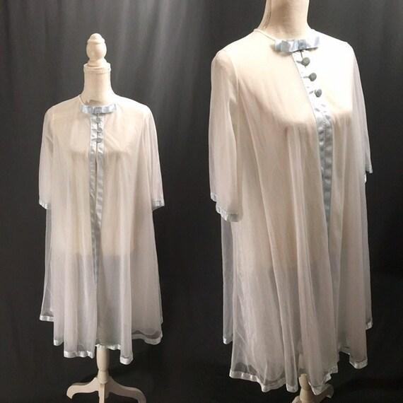 1950s  Vintage lingerie, Sheer Lingerie, Sheer rob