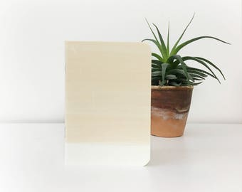 beige gradient A6 pocket notebook