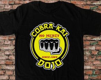 New karate Kid Cobra Kai DOJO No Meryc, karate Kid Cobra Kai 80s Design Black T shirt