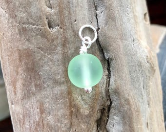 Convertible: Green Seaglass Charm