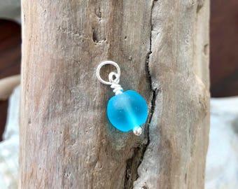 Convertible: Blue Seaglass Charm