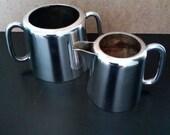 Pair of J Stokes Sheffield EPNS Milk jug and double handled sugar bowl
