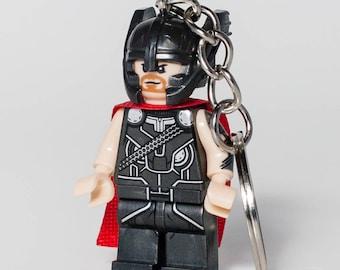 Thor Ragnarok God of Thunder Avengers Infinity War Key Chain Marvel Comics Superhero Custom Minifigure Keychain