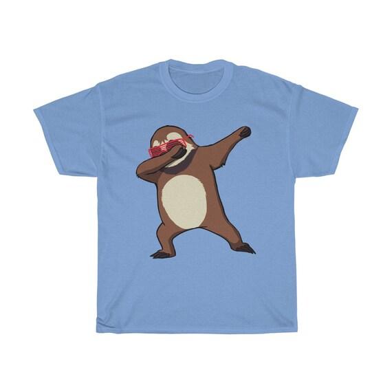 Mignon paresseux tamponnant Tee Shirt drôle danse Dab danse drôle paresseux chemises paresseux fête d'anniversaire assorti thème paresseux 84af99