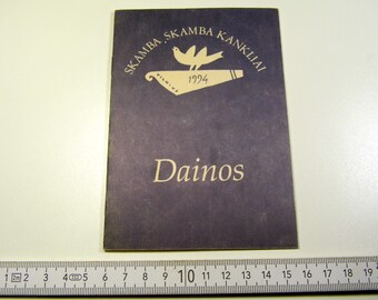"""Lithuanian 1994 year songs book """"Skamba Skamba Kankliai"""" old vintage retro authentic 17 pages 646sr"""