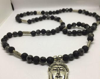 Lava Necklace and Buddha Crystals