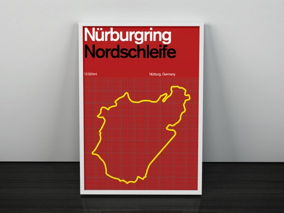A2 Nürburgring Nordschleife Racing Circuit Print