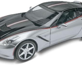 Plastic Model Kit RMX-4397 2015 Corvette Stingray Foose Design (Silver Black) Plastic Car Model Free Shipping!