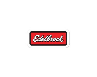 Edelebrock Sticker Hot Rod Sticker Racing Sticker  Vinyl Sticker Window Sticker Bumper Sticker FREE SHIPPING!