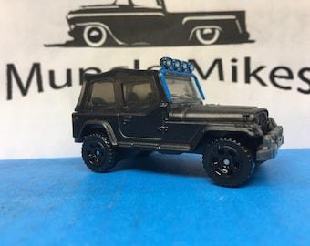 Custom Matchbox Jeep Wrangler Custom Painted FLAT BLACK