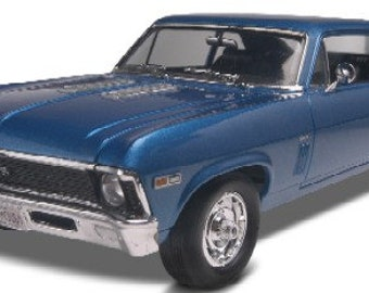 Plastic Model Kit: RMX-2098 1969 Chevy Nova SS Model Kit Free Shipping!
