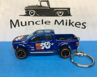Hot Wheels Ford F-150 Christmas Ornament,  Keychain or Zipper Pull
