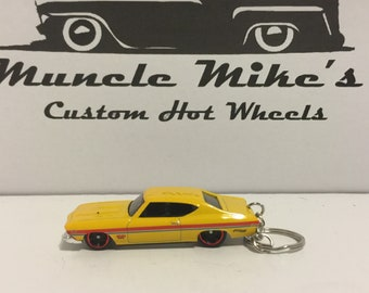 Hot Wheels yellow '69 1969 Chevelle SS 396 Christmas Ornament,  Keychain or Zipper Pull