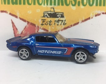 Hot Wheels 1970 Chevy Camaro With Rubber Tires and Iroc Wheels BLUE
