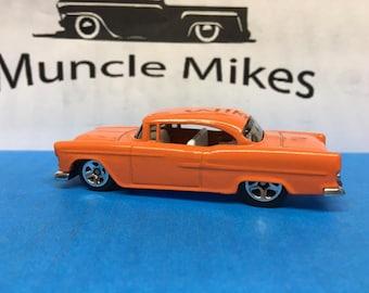 Hot Wheels 1955 Chevy Custom Painted Tangerine Orange