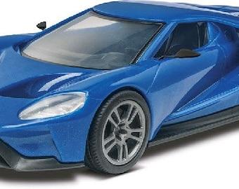 Plastic Model Kit: RMX-1987 2017 Ford GT (Blue) (Snap) Model Kit Free Shipping!