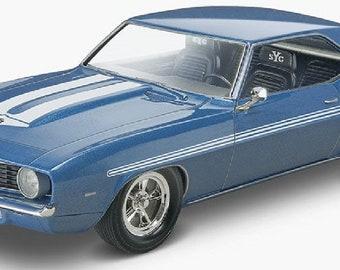 Plastic Model Kit: RMX-4314 Fast & Furious 1969 Chevy Camaro Yenko Model Kit Free Shipping!