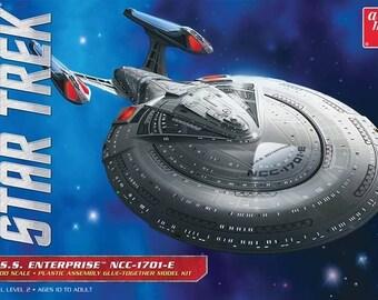 Plastic Airplane Model Kit: AMT-853 Star Trek USS Enterprise NCC1701E Free Shipping!