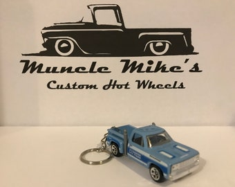 Hot Wheels blue Firestone Express Dodge pickup truck Christmas Ornament,  Keychain or Zipper Pull Mopar