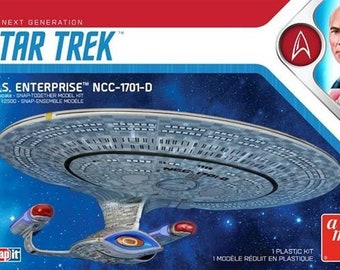 Plastic Airplane Model Kit: AMT-1126 Star Trek The Next Generation USS Enterprise NCC1701D (Snap)