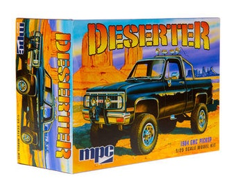 Plastic Model Kit: mpc-848 Deserter 1984 gmc Pickup Model Kit Molded in Black + Best Deal Online + DISPLAY CASE INCLUDED +