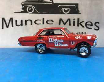 Hot Wheels & Display Case Car Culture 1963 Chevy Nova Drag Car Gasser