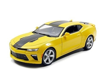 Collectible 1/18 Scale Diecast 2016 Camaro SS (Yellow)