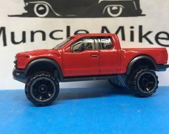 Hot Wheels 2017 Ford F-150 Raptor Custom Painted CARDINAL RED