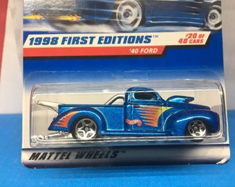 Classic Collectible Hot Wheels  Collector  654 1940 Ford Pick Up With Pro  Tech Case Free Shipping! e12321054b09