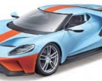 Collectible 1/18 Scale Diecast 2017 Ford GT (Blue Orange)