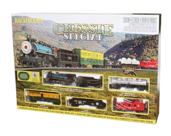 Model Railroading BAC-750 Bachmann Trains - Chessie Special Ready To Run Electric Train Set - HO Scale