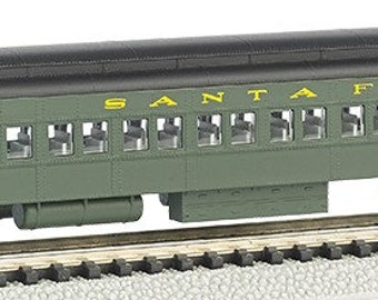 Model Railroading BAC-13751 Bachmann Industries Heavyweight Coach with Lighted Interior - Santa FE (N Scale), 72'