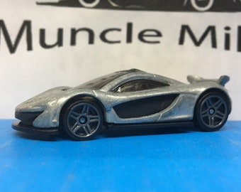 Hot Wheels McLaren P1 Race Car Muscle Car Hot Rod Black Bottom: BARE METAL