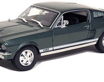 Collectible 1/18 Scale Diecast 1967 Ford Mustang GTA Fastback (Met. Green)