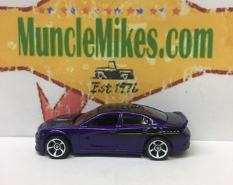 Hot Wheels & Display Case 2015 Dodge Charger SRT Hot Rod PURPLE Mopar