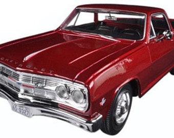 Collectible 1/24 Scale Diecast 1965 Chevrolet El Camino (Met. Red) Diecast Model