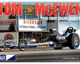 """Plastic Model Kit MPC-900 Hot Wheels Tom """"Mongoose"""" McEwen 1969 Front Engine Dragster Plastic Car Model Free Shipping!"""