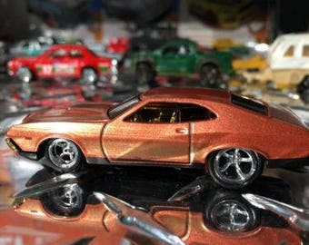 Custom Hot Wheels 72 Ford Gran Torino Sport Rubber Tires Real Rider Style