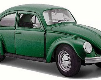 Collectible 1/24 Scale Diecast 1973 VW Beetle (Green) Diecast Model from Maisto
