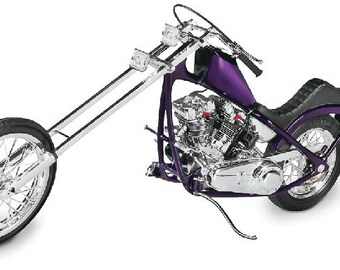 Plastic Model Kit rmx-7541 1/8 Tom Daniel's Grim Reaper Chopper Motorcycle Plastic Model + Best Deal Online + DISPLAY CASE INCLUDED +