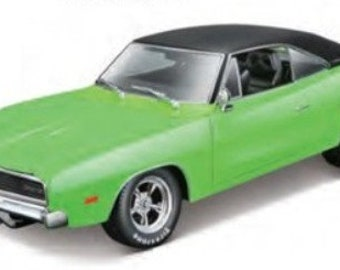 Collectible 1/18 Scale Diecast 1969 Dodge Charger R/T Custom (Lime Green)