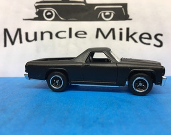 Matchbox:  1970 Chevy El Camino Muscle Car Custom Painted Flat Black