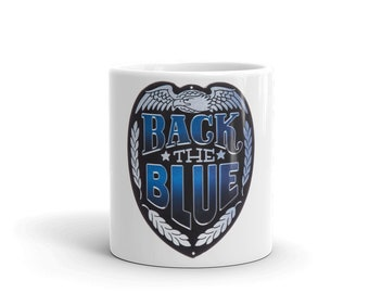 Hot Rod Coffee Mug - Coffee Cup - Tea Cup - Coco Cup - Back The Blue Cup Free Shipping!