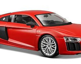 Collectible 1/24 Scale Diecast Audi R8 V10 Plus (Red) Diecast Model from Maisto
