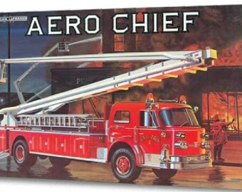 Plastic Model Kit: AMT-980 1970's American LaFrance Aero Chief Fire Truck Free Shipping!